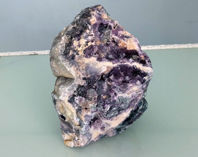 Large Rainbow Fluorite, Raw Purple Fluorite Stone