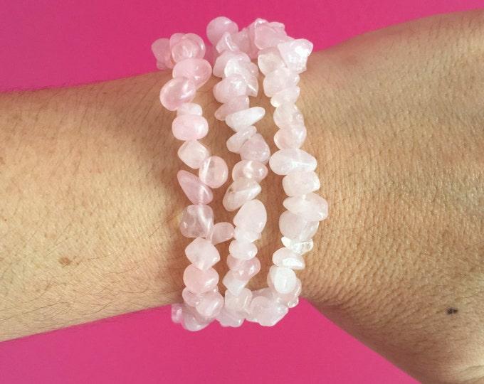 Rose Quartz Bracelet, Rose Quartz Jewelry- Healing Reiki Jewelry