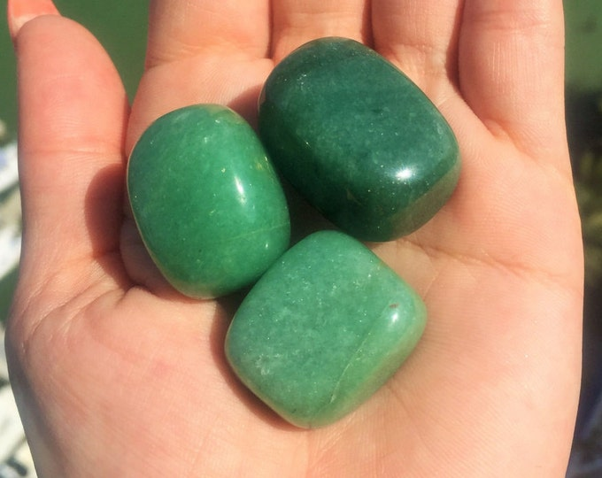 GREEN Aventurine Crystal Perfect for Chakras, Reiki, Meditation, Jewelry Making Supplies