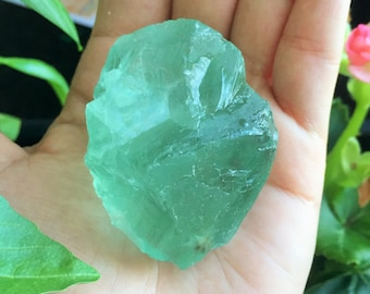 Raw Green Fluorite Crystal / Healing Crystals, Raw Stones