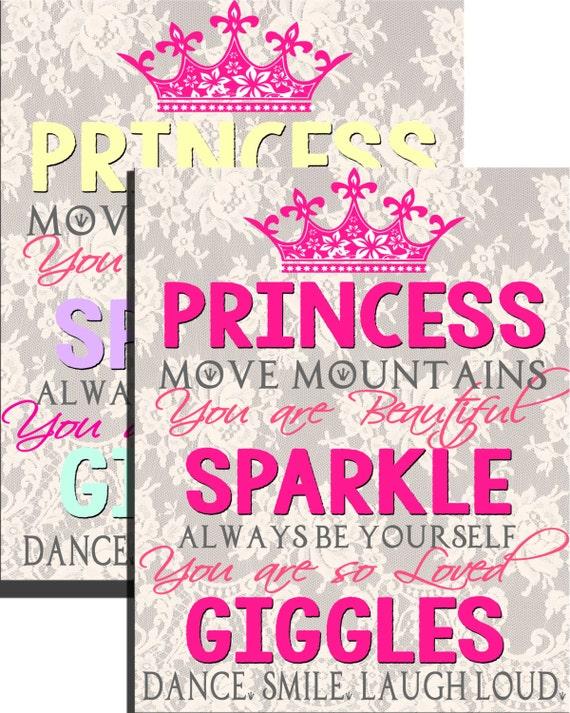 Popular Little Girl Room Wall Art Quotes Princess Wall Art Etsy