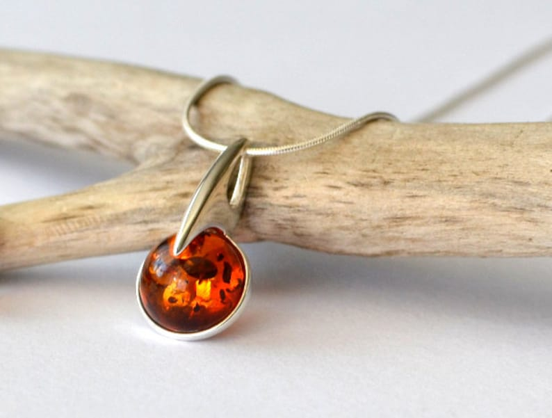 Amber Necklace  Amber Pendant Amber Jewelry Natural Amber image 0