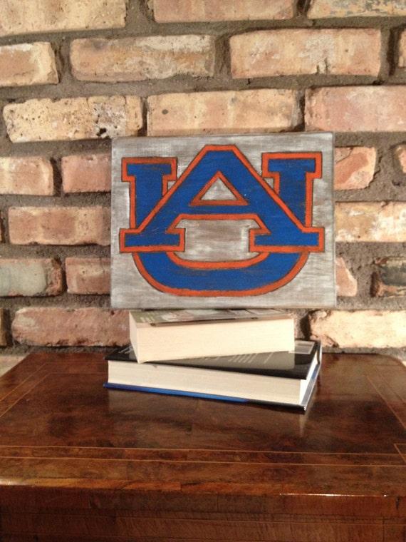 Auburn War Eagles Hand Engraved Wall Decor Auburn Man | Etsy