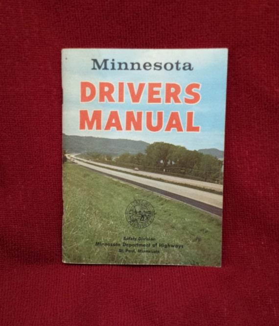 vintage 1961 minnesota drivers manual retirement gift 1960s | etsy