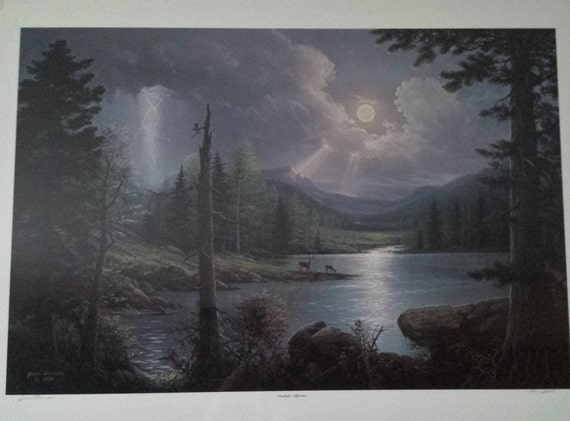 Jesse Barnes Moonlight Reflections Limited Signed Etsy