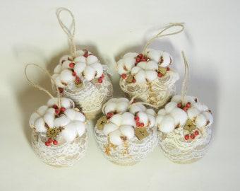 Rustic christmas ornaments etsy