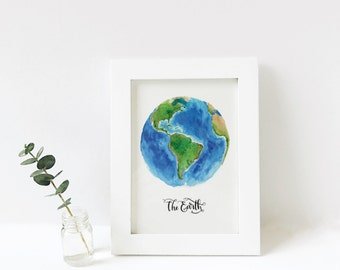5x7 The Earth, simplified