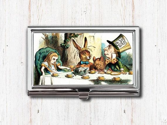 Alice In Wonderland Business Card Case Holder