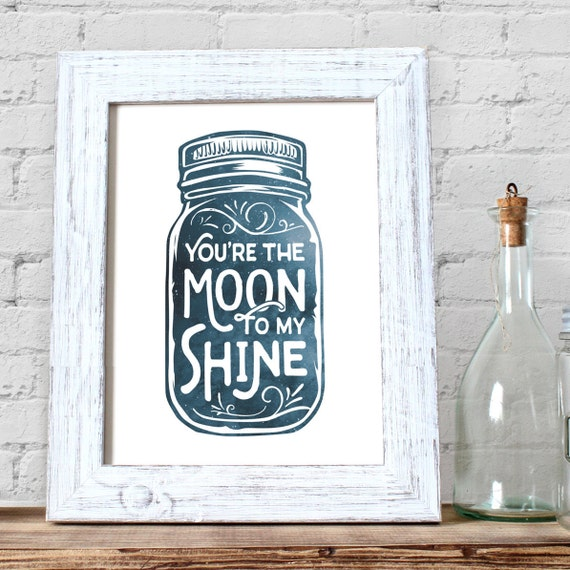 mini moonshine decorations