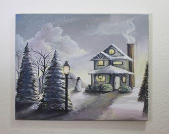 Christmas Landscape Painting