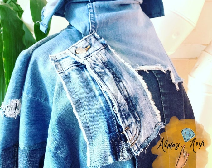 Featured listing image: Custom Designed - One-Of-A-Kind ReWorked & UpCycled Denim Jacket
