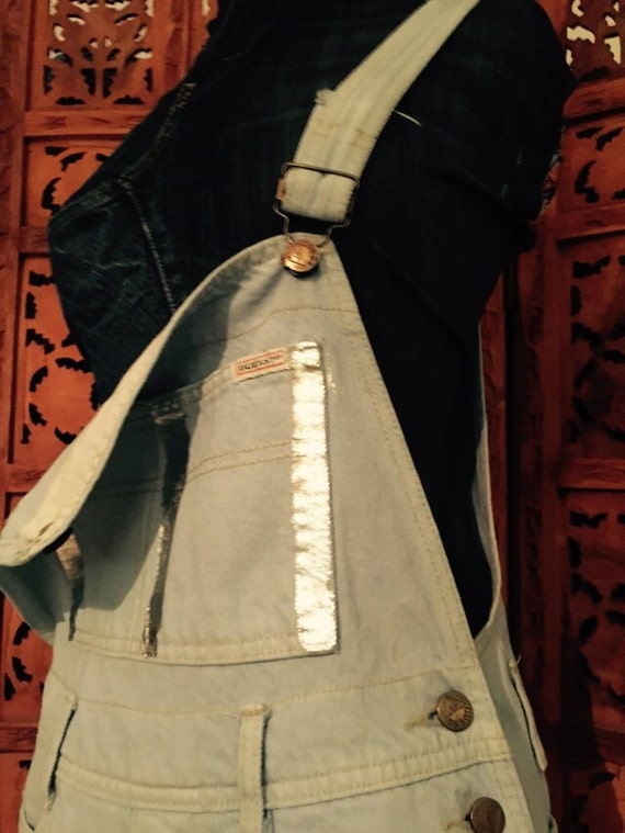 UpCycled Guess Overalls w/ Silver Paint Details