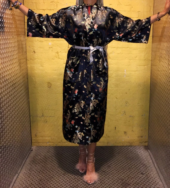 Super DOPE Authentic Japanese Kimono-esque Robe Jacket w Pockets & Belt