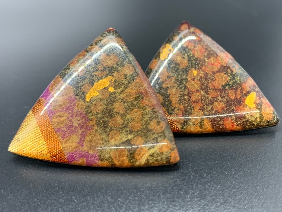 Vintage Triangle Post Earrings