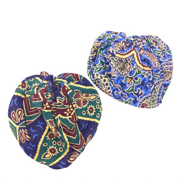 BRONX ROSES - HandCrafted UpCycled Fabric Earrings- THIN Painted Paisley Print