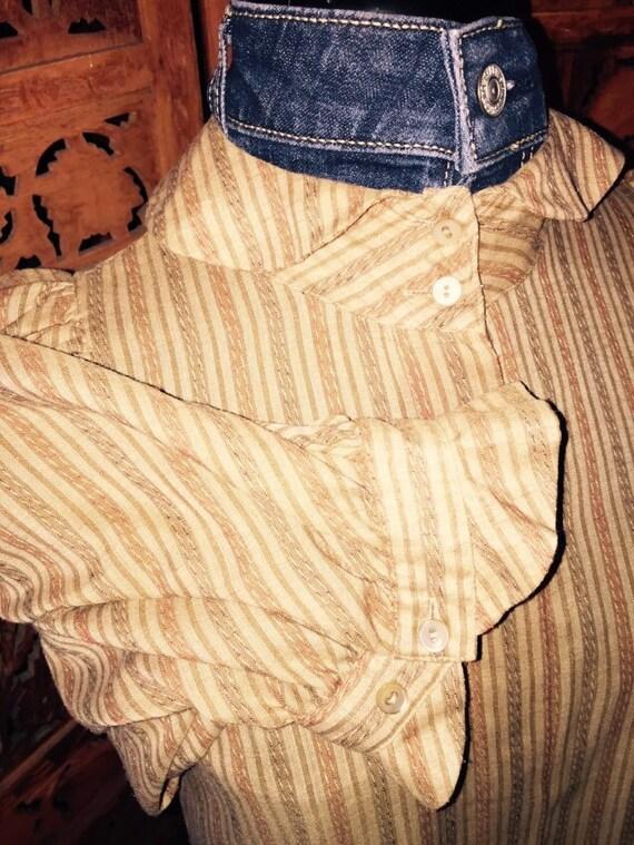 1980s Liz Claiborne Hidden Button Blouse