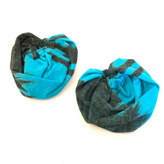 BRONX ROSES - HandCrafted UpCycled Fabric Earrings- Washed Cotton Fabric