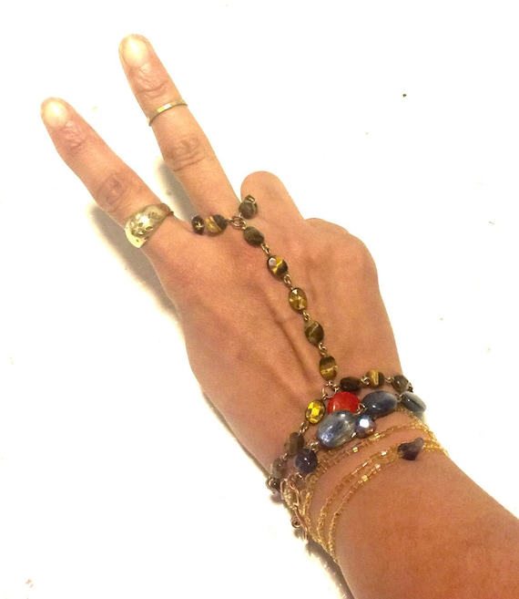 Custom Special Request HandChain Bracelet Ring Combos...also called SlaveChains - to the rhythm*