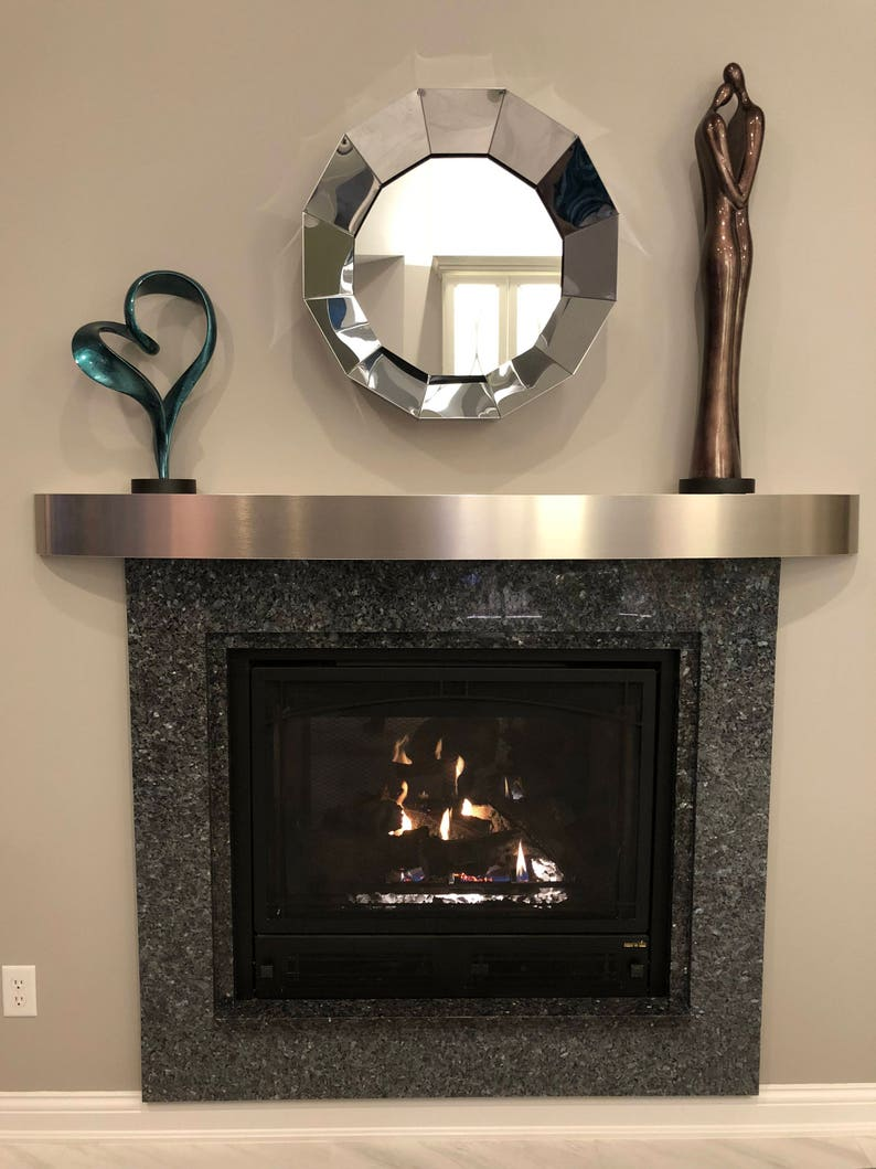 Solid Stainless 06 Mmlaminated Curved Fireplace Mantel 5 Etsy