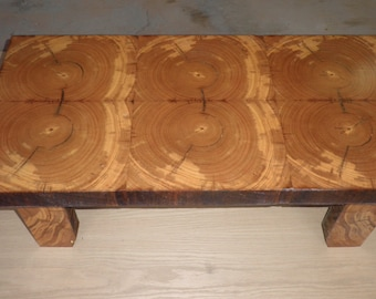 handcraffed natural reclaimed wood coffee table