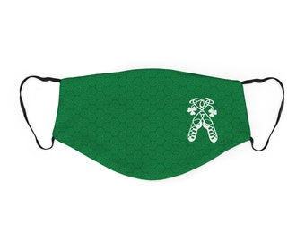 Girls Irish Dance Face Mask, Ghillies Facemask for Irish Dancer, Irish Dancing Face Covering, Girl Irish Dancer Gift