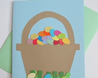 Easter Egg Basket Card (No Message Inside)