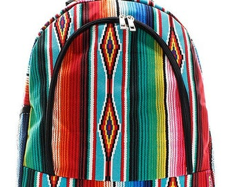 Serape Print Backpack/Bookbag - Personalized/Monogrammed