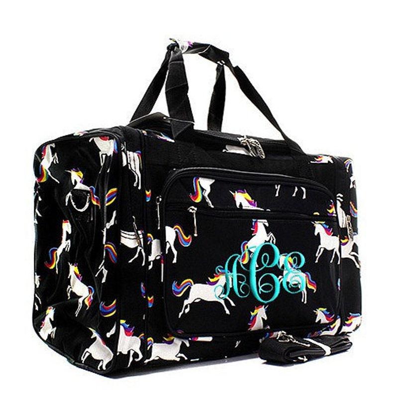 b6bacd82cd Unicorn Duffel Overnight Bag Gym Bag Black
