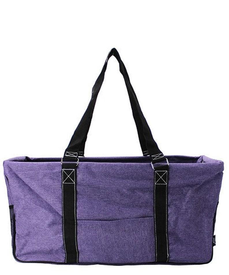 PersonalizedMonogrammed Large Utility ToteTote Bag Stone Wash Purple