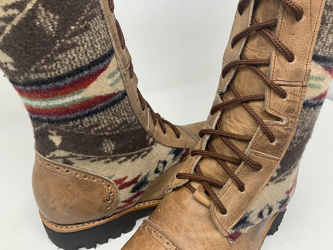 Womens TALL size 9 Handmade For Life *Gunslinger* Boots with Wool