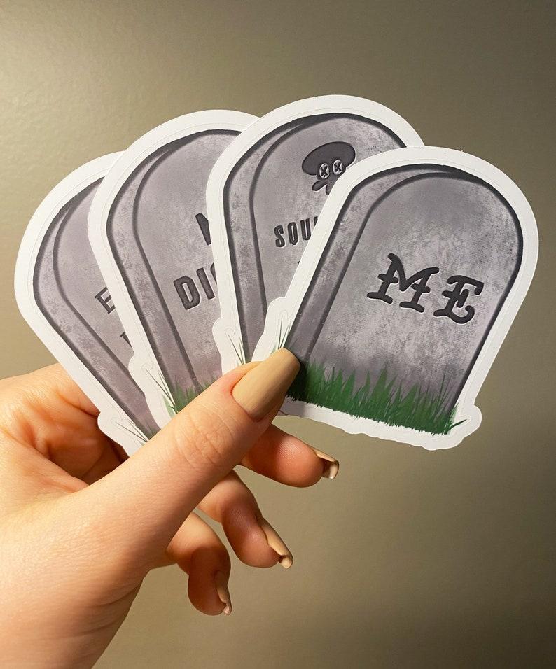Custom Tombstone Sticker