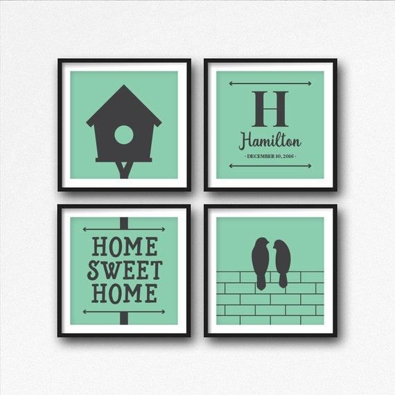 Apellido impresiones casa cita imprimible arte agrupación