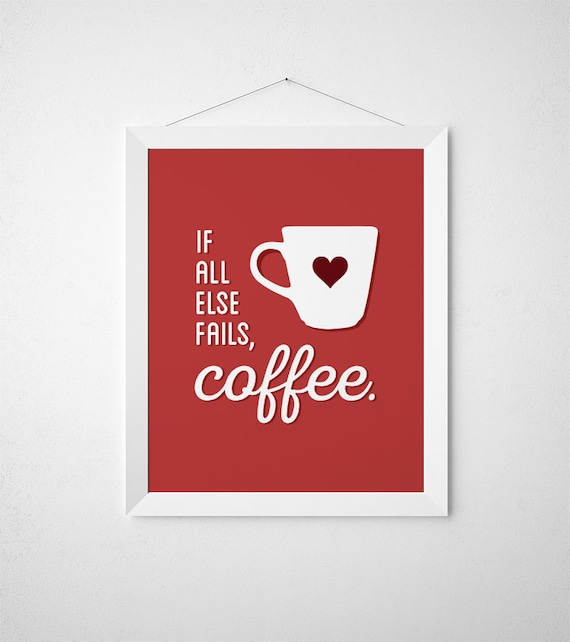 Coffee Printable Art Coffee Sign Red Kitchen Decor Kitchen Signs Kitchen Wall Decor Coffee Bar Sign Coffee Bar Decor Kitchen Print