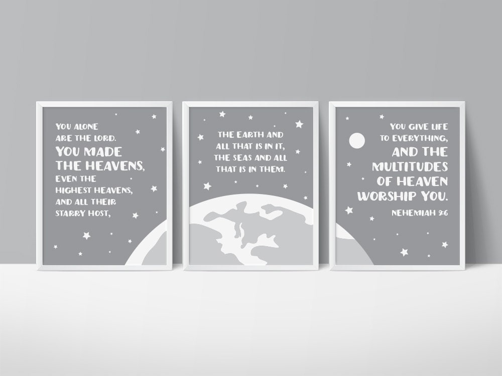 Space Themed Nursery Star Printable Art You Made The | Etsy