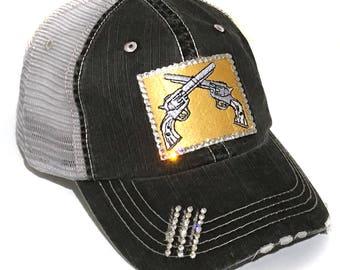 12d2f935 Gun Lover Gift 2nd Amendment Gift NRA Gift Bling Baseball Cap Gun Lovers  Gift Southern Girl Gift Bling Baseball Hat Womens Trucker Hat