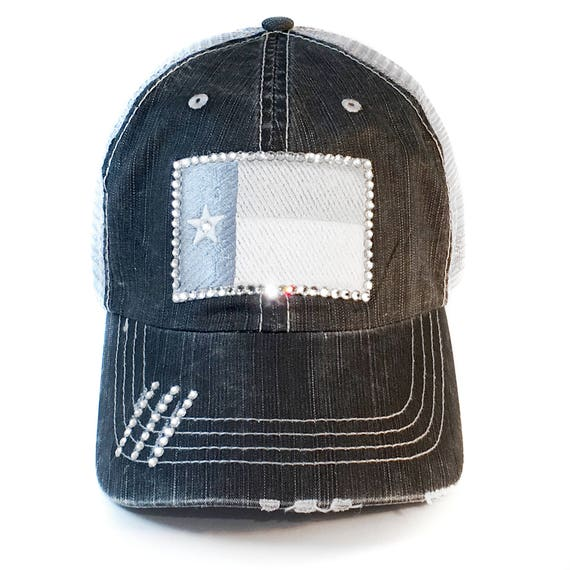 Texas Flag Trucker Hat Womens Baseball Cap Swarovski  d090df5f36e