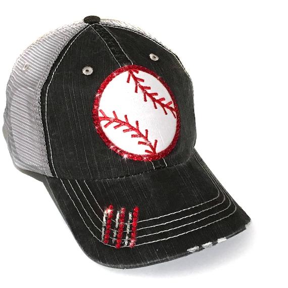 95b8b647fe97d ... detailed look 79b9a 91638 Baseball Girlfriend Bling Baseball Cap  Baseball Mom Gift Et ...