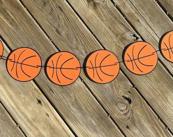 Basketball Garland | Basketball Banner | Basketball Decor | Basketball Decoration | Basketball Birthday | Sports Birthday | Photo Prop