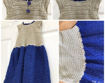 cotton girls spring and summer dress in crochet