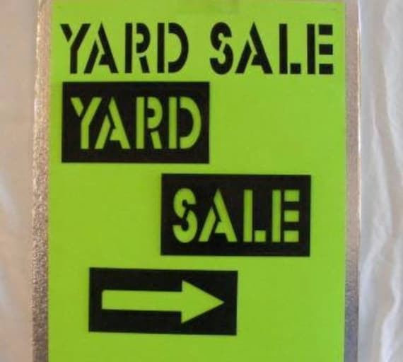 Stencil Kit For DIY Yard Sale Signs