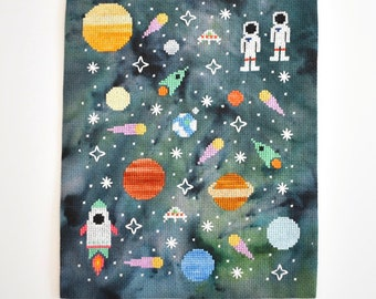PDF Galaxy Space Cross Stitch Pattern Download for Beginners