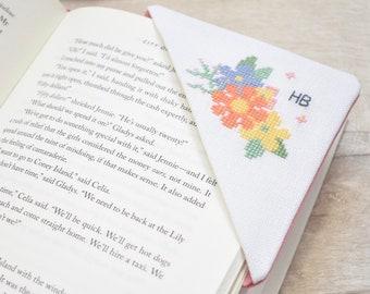 PDF Personalised Cross Stitch Corner Bookmark - Instant Download