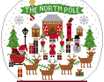 PDF The North Pole Christmas Cross Stitch Pattern - Traditional Palette