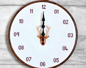 PDF Cross Stitch Clock Pattern