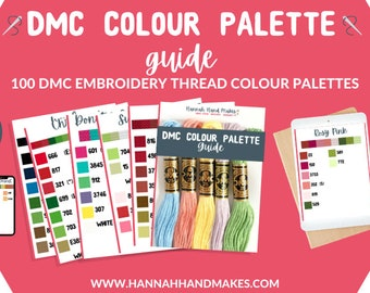 DMC Colour Palette Guide | PDF Download | 100 colour palettes