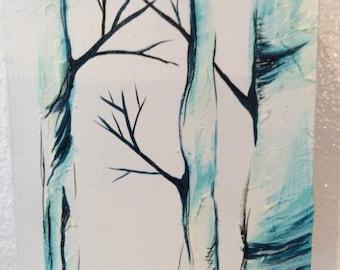 Birch 2018 collection. Acrylic on canvas.