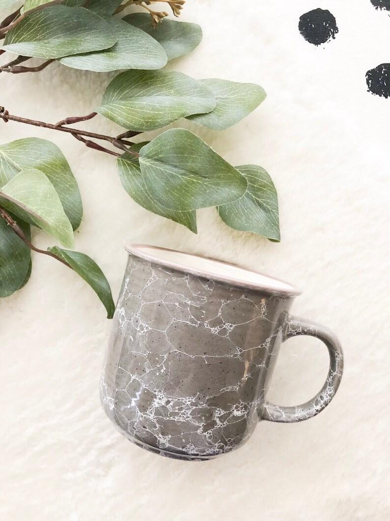 240ad22b88f Gray Marble Campfire Mug Custom Mug Camp Mug | Etsy