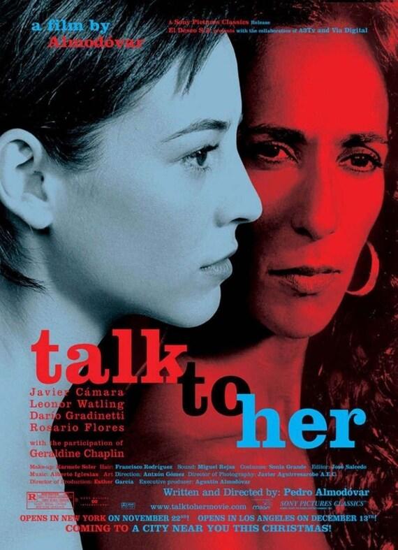 Hable de Almodóvar con ella cartel/impresión con el marco de | Etsy