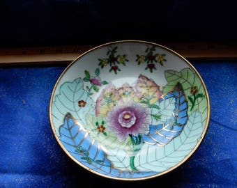 Hand Painted Gold Trimmed Bowl