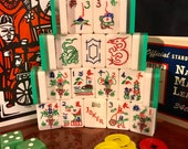 Royal Mahjong Set Triple Layer Tri-Color 164 Tiles 16 Flowers 10 Jokers 5 Swirl Racks Bettor Locking Case